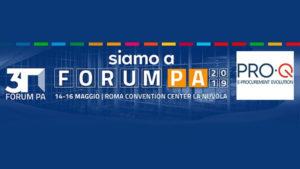 Si rinnova l'appuntamento con ForumPA: dal 14 al 16 maggio il team di PRO-Q all'evento dedicato alla digitalizzazione della PA